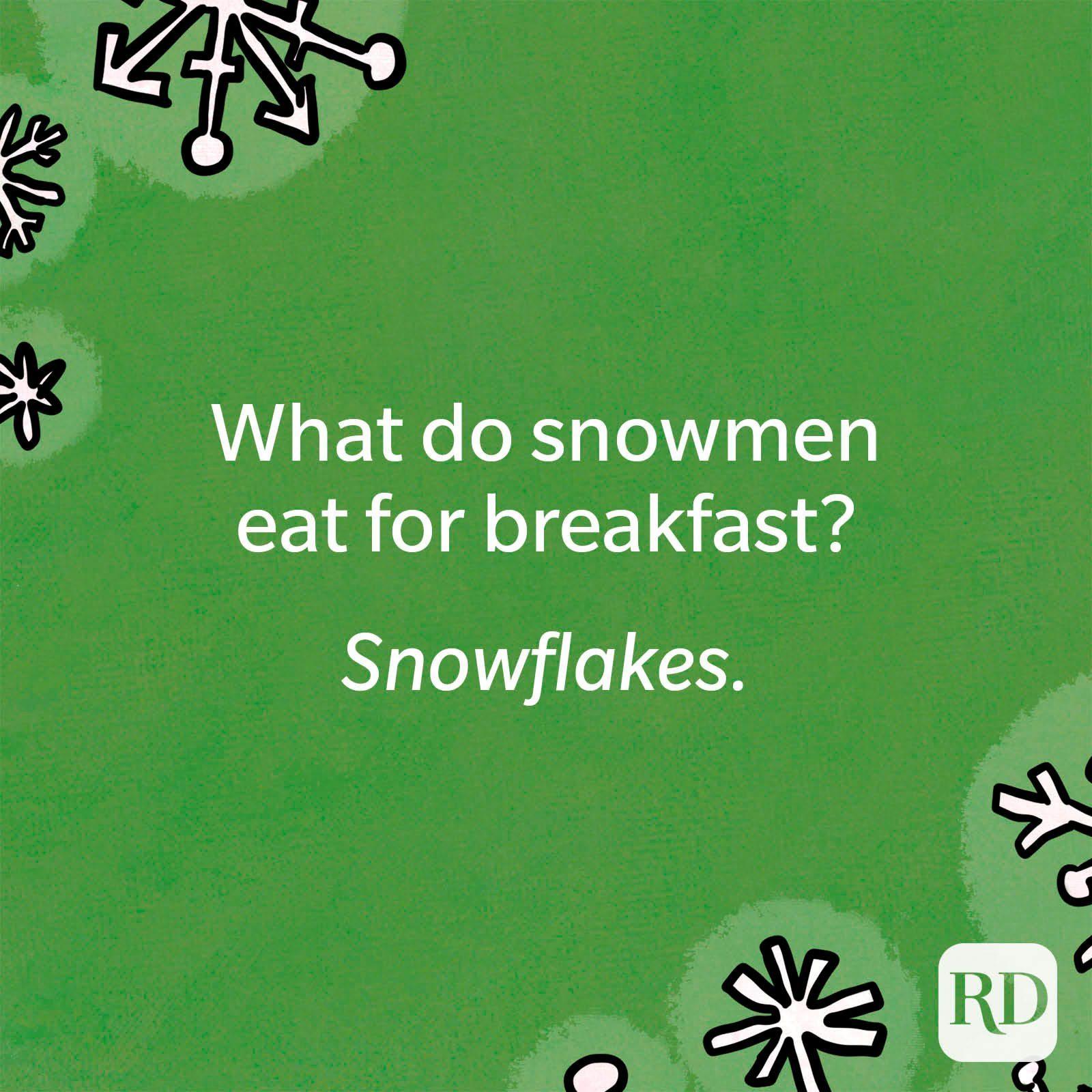 What do snowmen eat for breakfast?