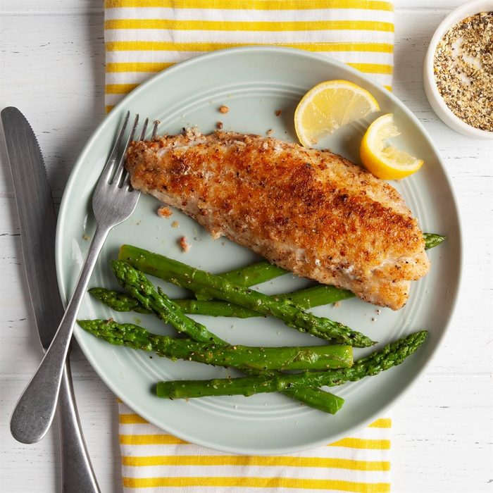 Crumb-Coated Red Snapper