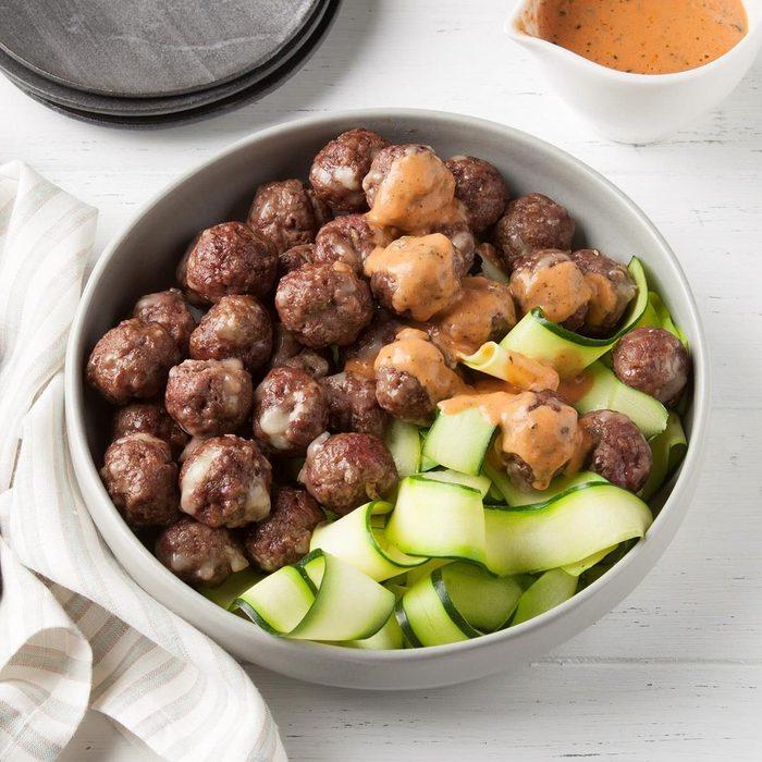 Keto Meatballs and Sauce