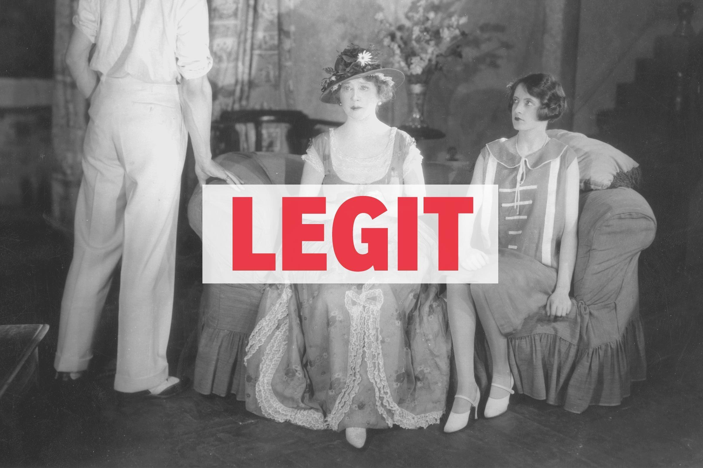 """LEGIT"" over vintage theater performance"