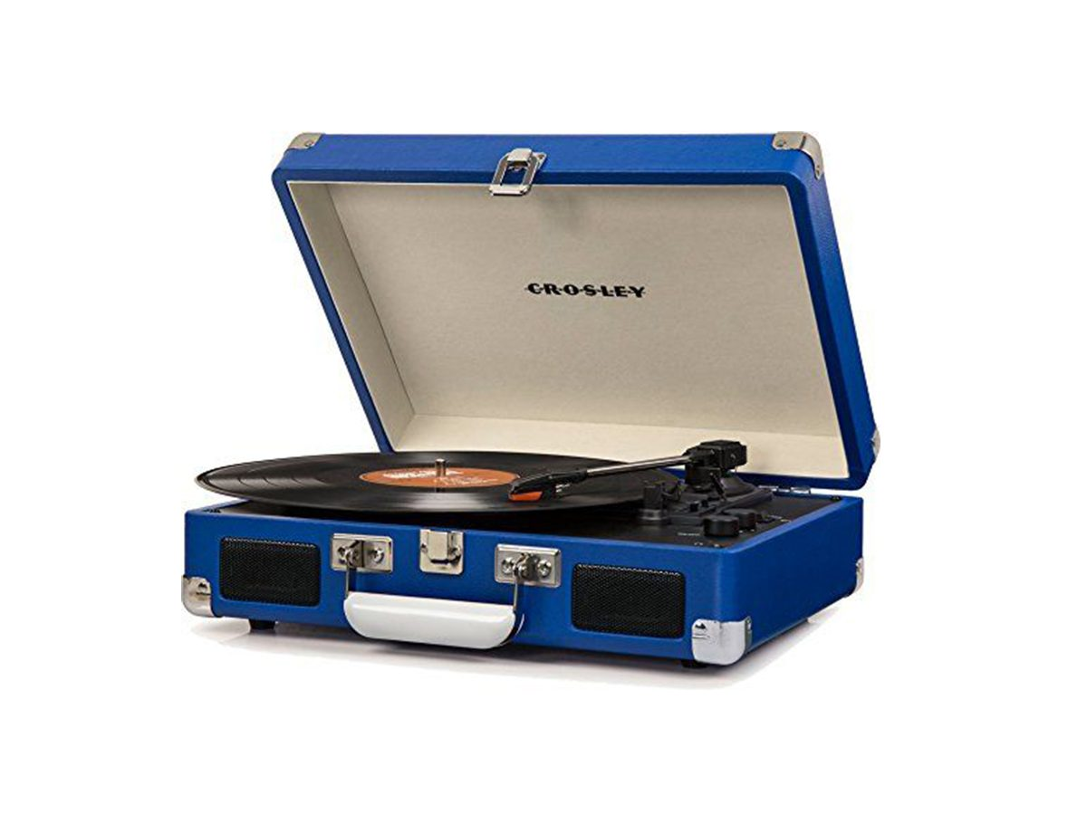 Crosley CR8005D-BL Cruiser Deluxe Portable 3-Speed Turntable with Bluetooth
