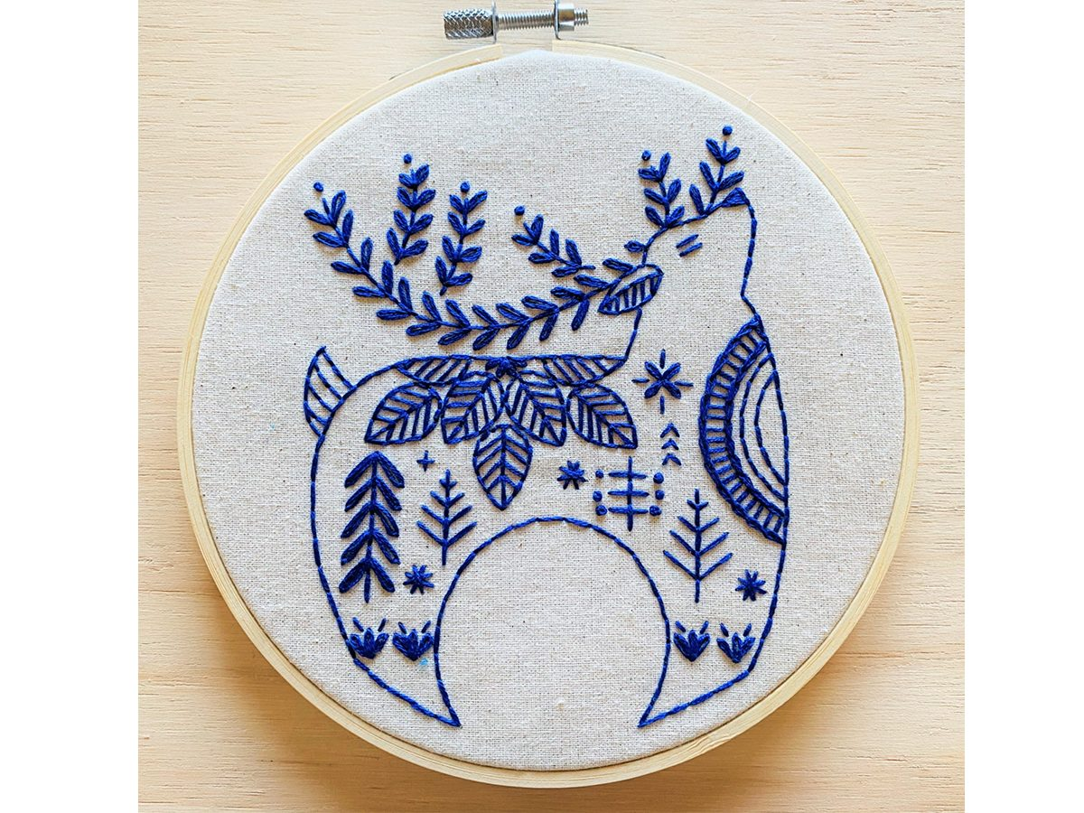Holiday Hygge Reindeer Complete Embroidery Kit