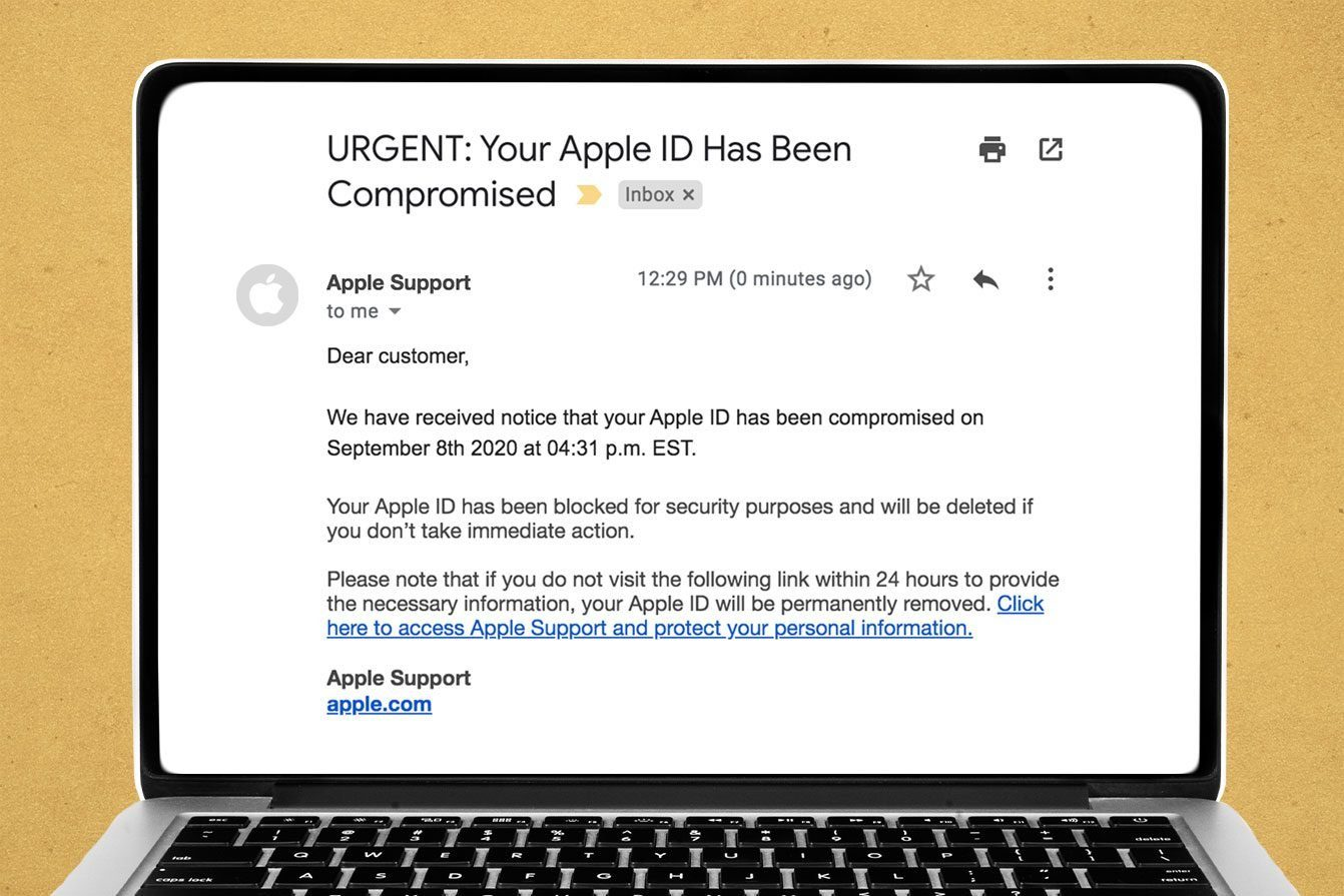 URGENT: Your Apple ID Has Been Compromised Email