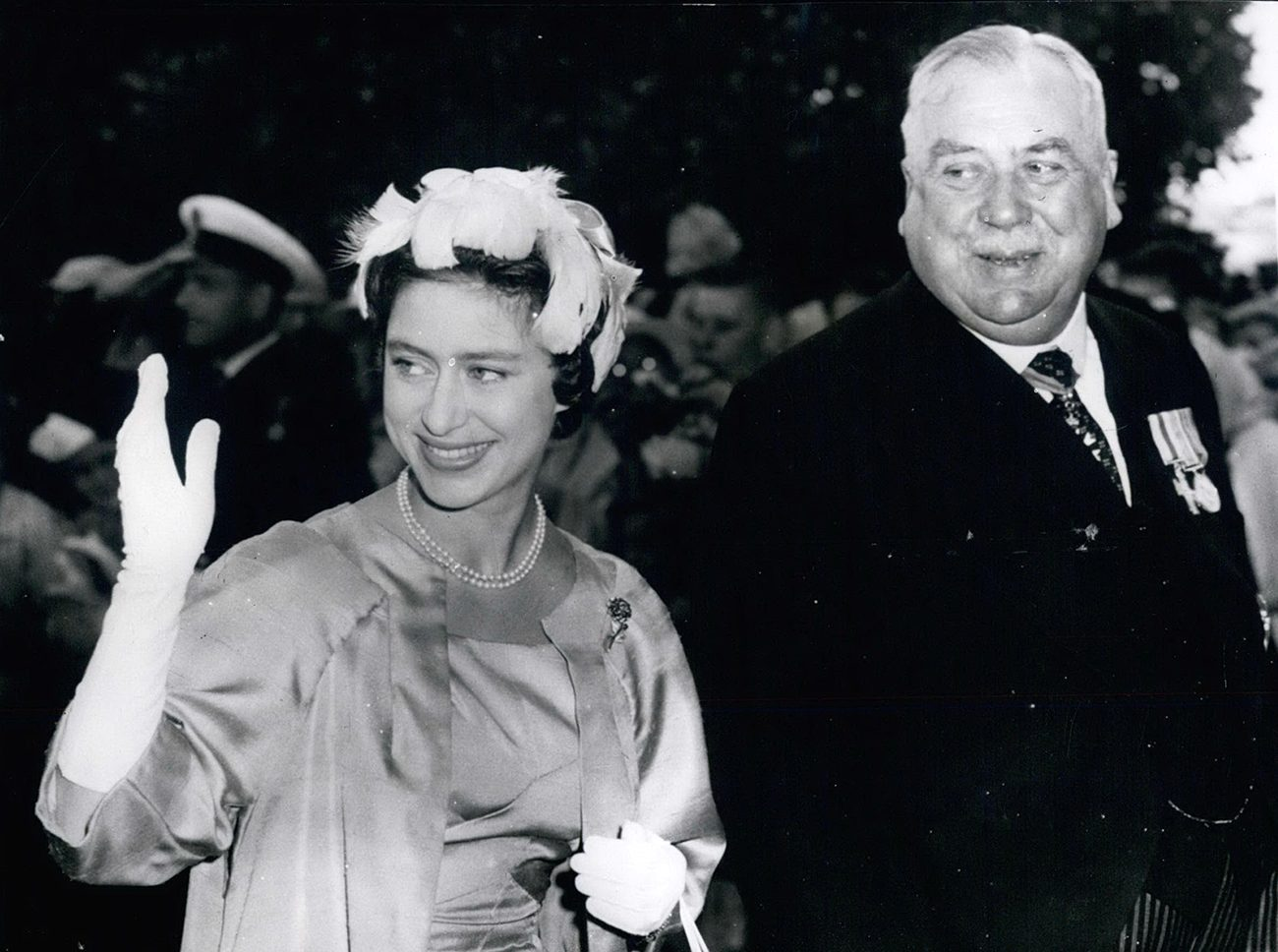 Royal tours of Canada - Princess Margaret in Victoria B.C. in 1958