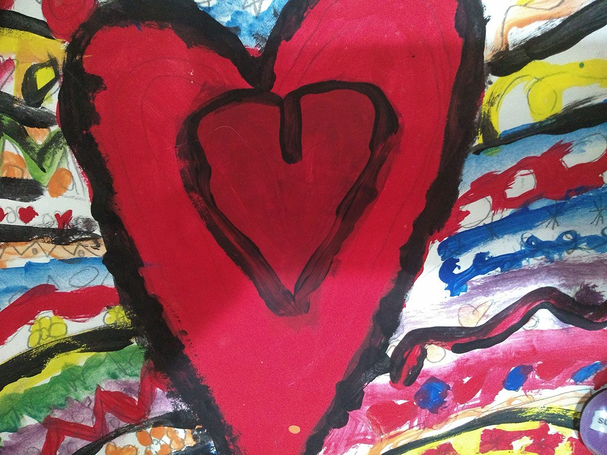 Painting of heart
