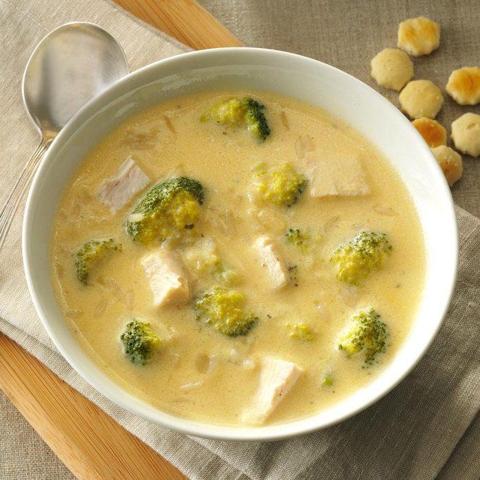 Broccoli-chicken rice soup recipe