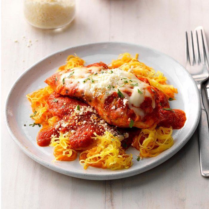 Day 15: Chicken Parmesan With Spaghetti Squash