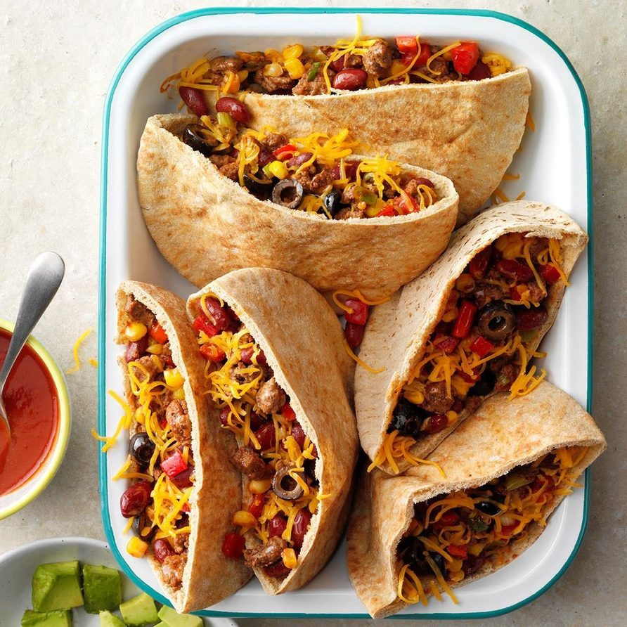 Hearty Pita Tacos recipe