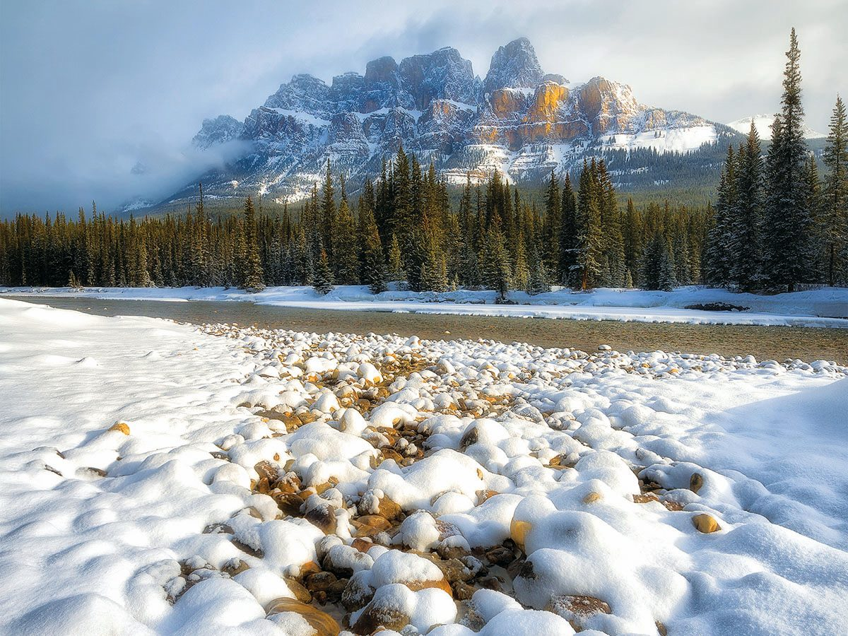 Snow mountains in Canada.