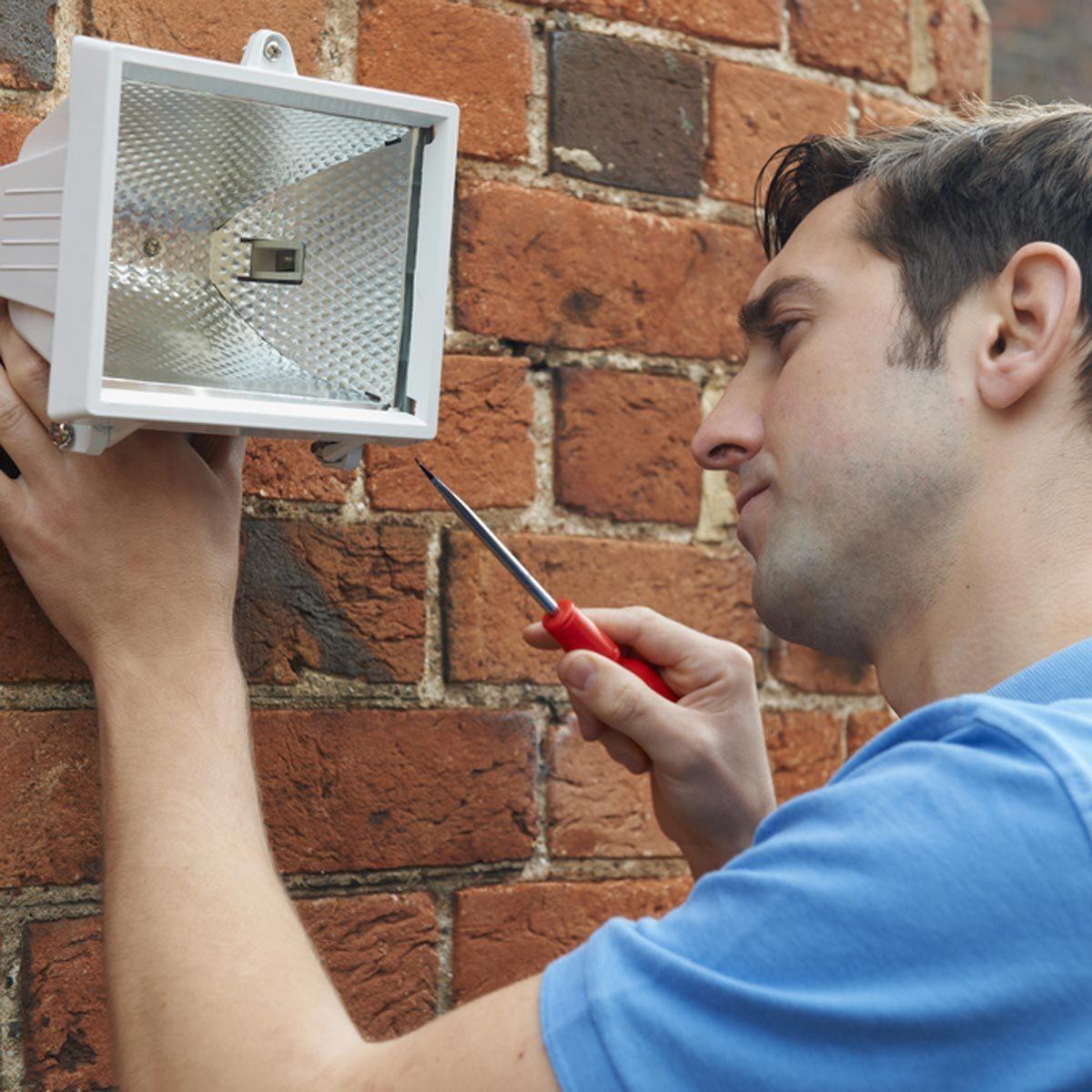 Light on motion sensors surprise burglars