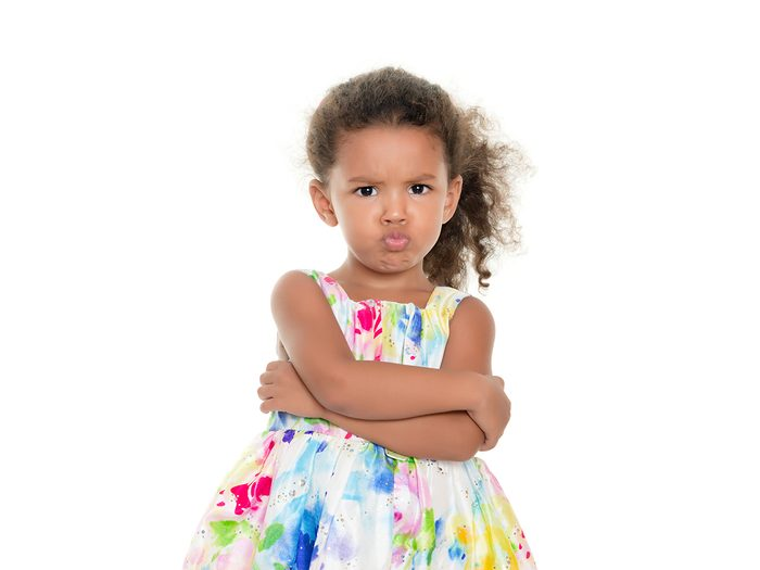 Funny parent tweets - angry little girl