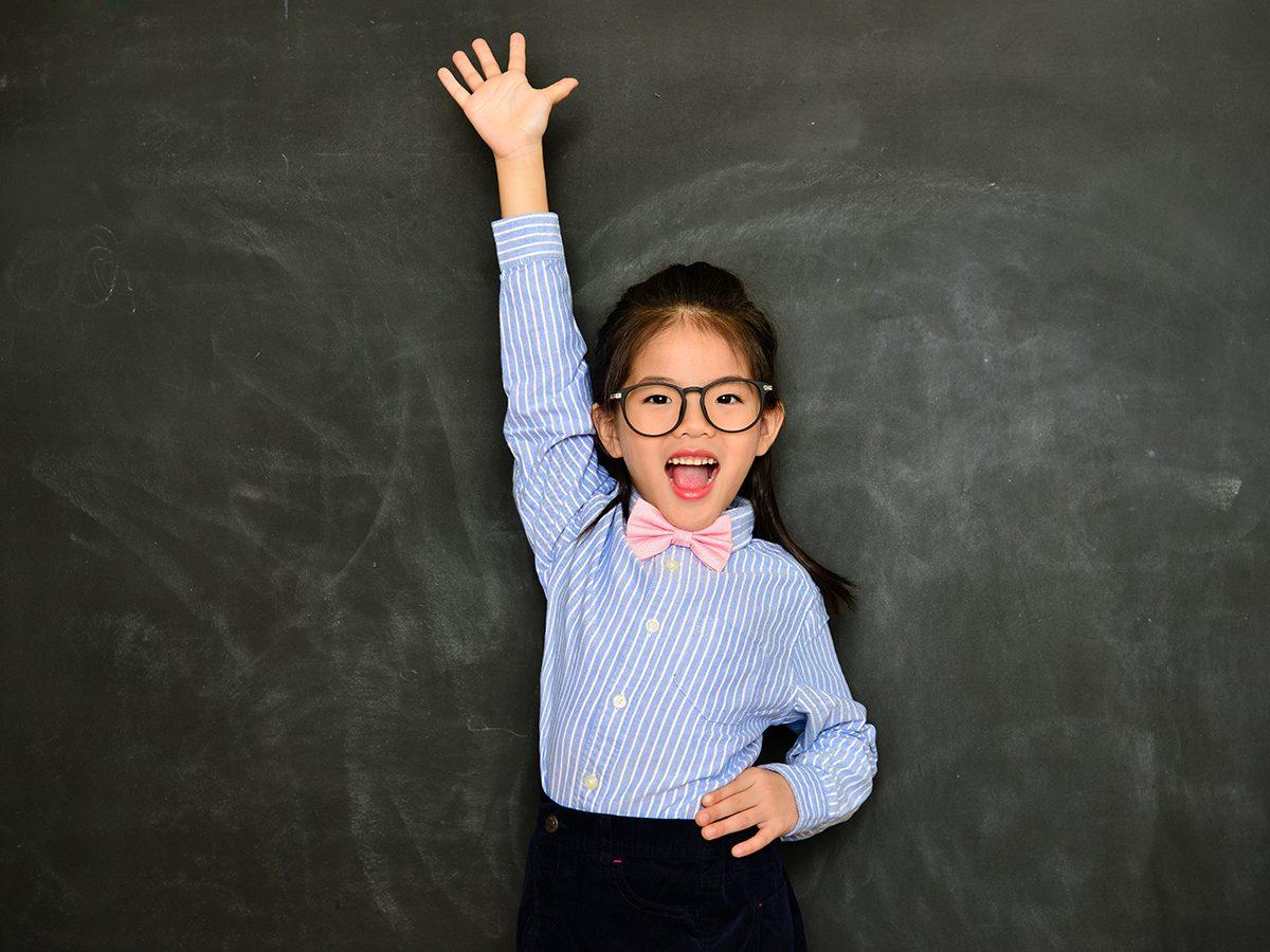 Funny Parenting Tweets - Kid Raising Hand
