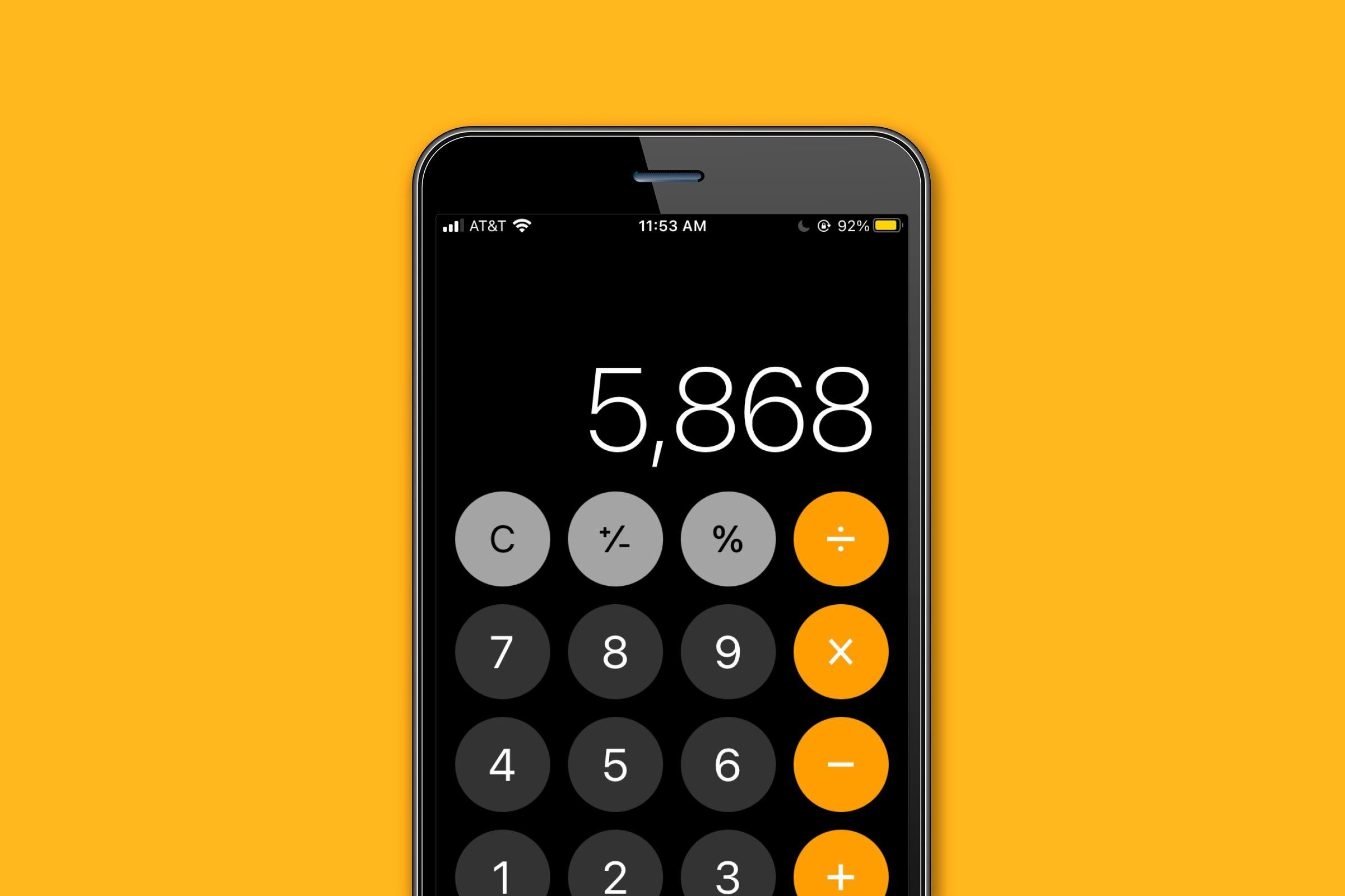 Access the calculator's hidden backspace button