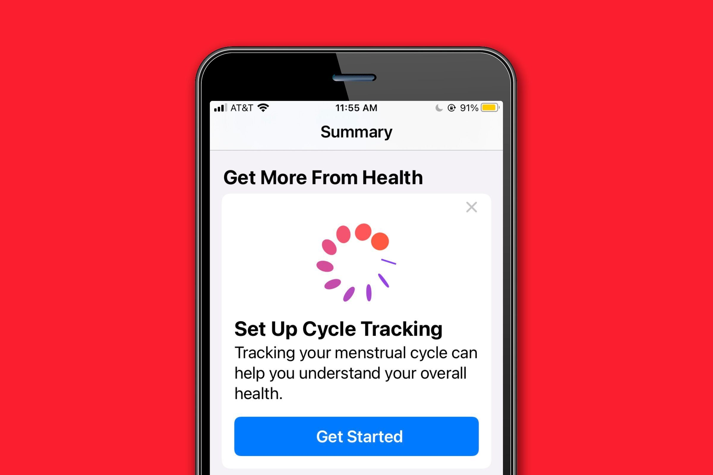 Track your menstrual cycle and other health data
