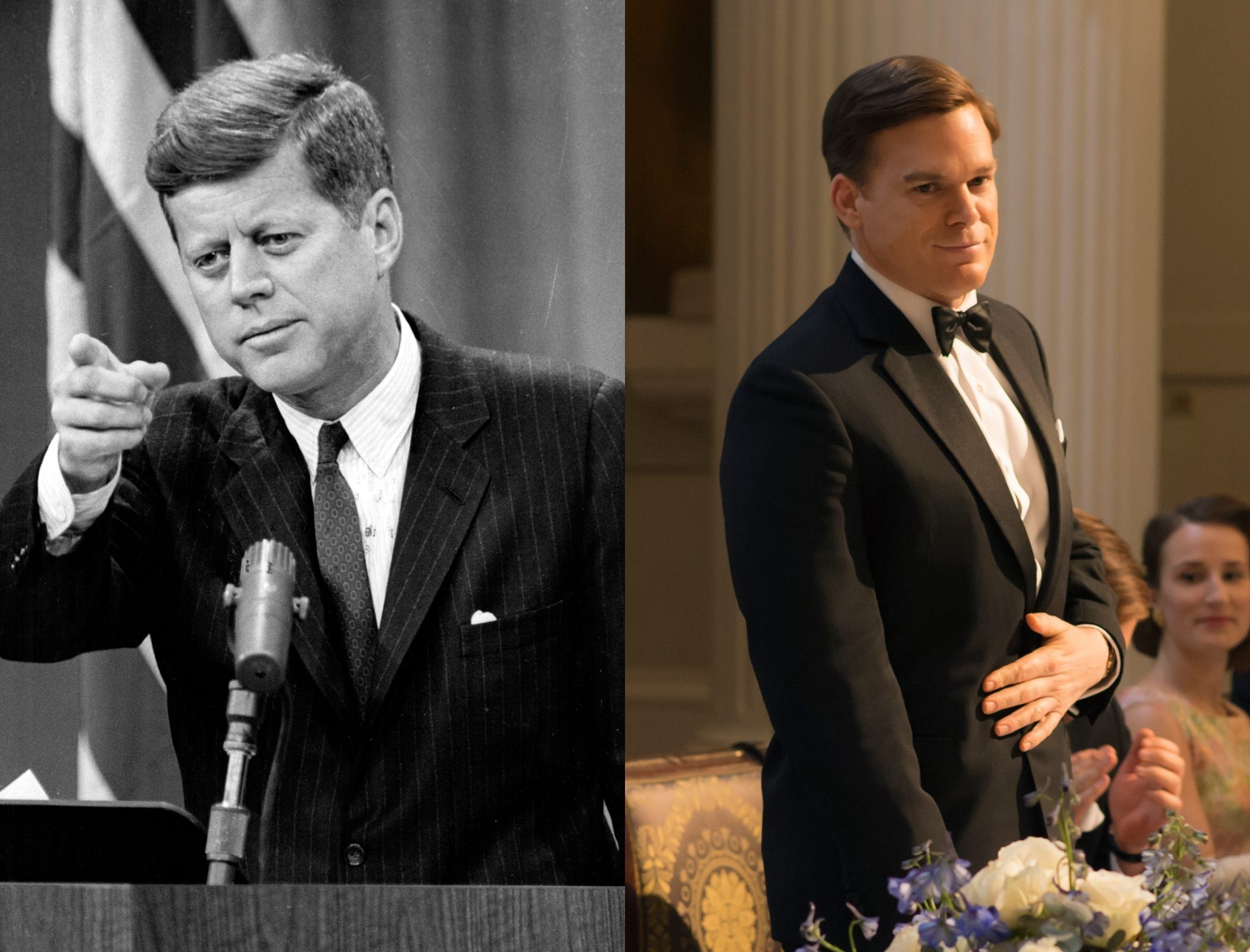 John F. Kennedy played by Michael C. Hall on Netflixs The Crown