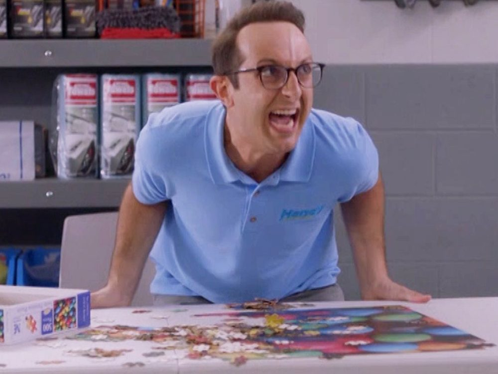 Kims Convenience Quotes - Terence and his puzzle in the Handy office