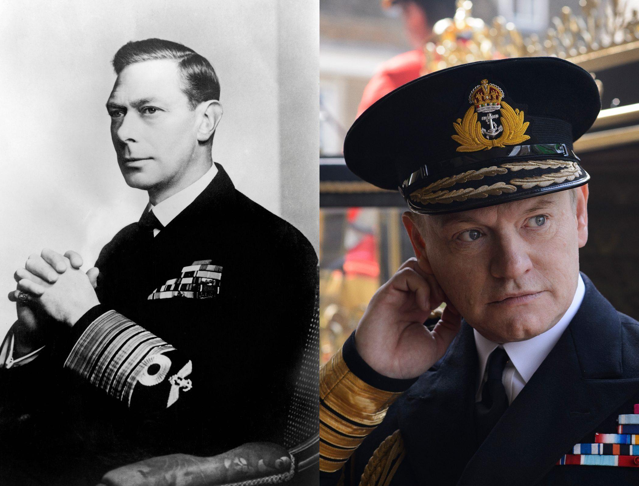 King George VI, as played by Jared Harris