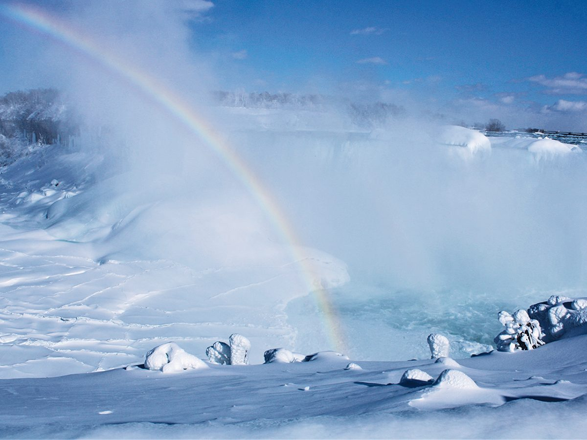 Niagara Falls In Winter - Rainbow
