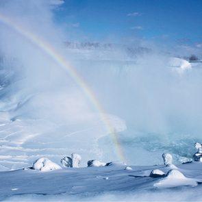 Niagara Falls In Winter - Rainbow