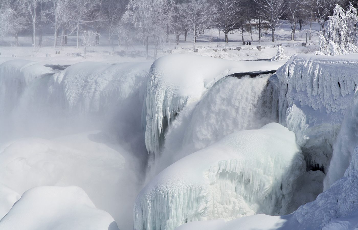 Niagara Falls In Winter - Snow And Ice
