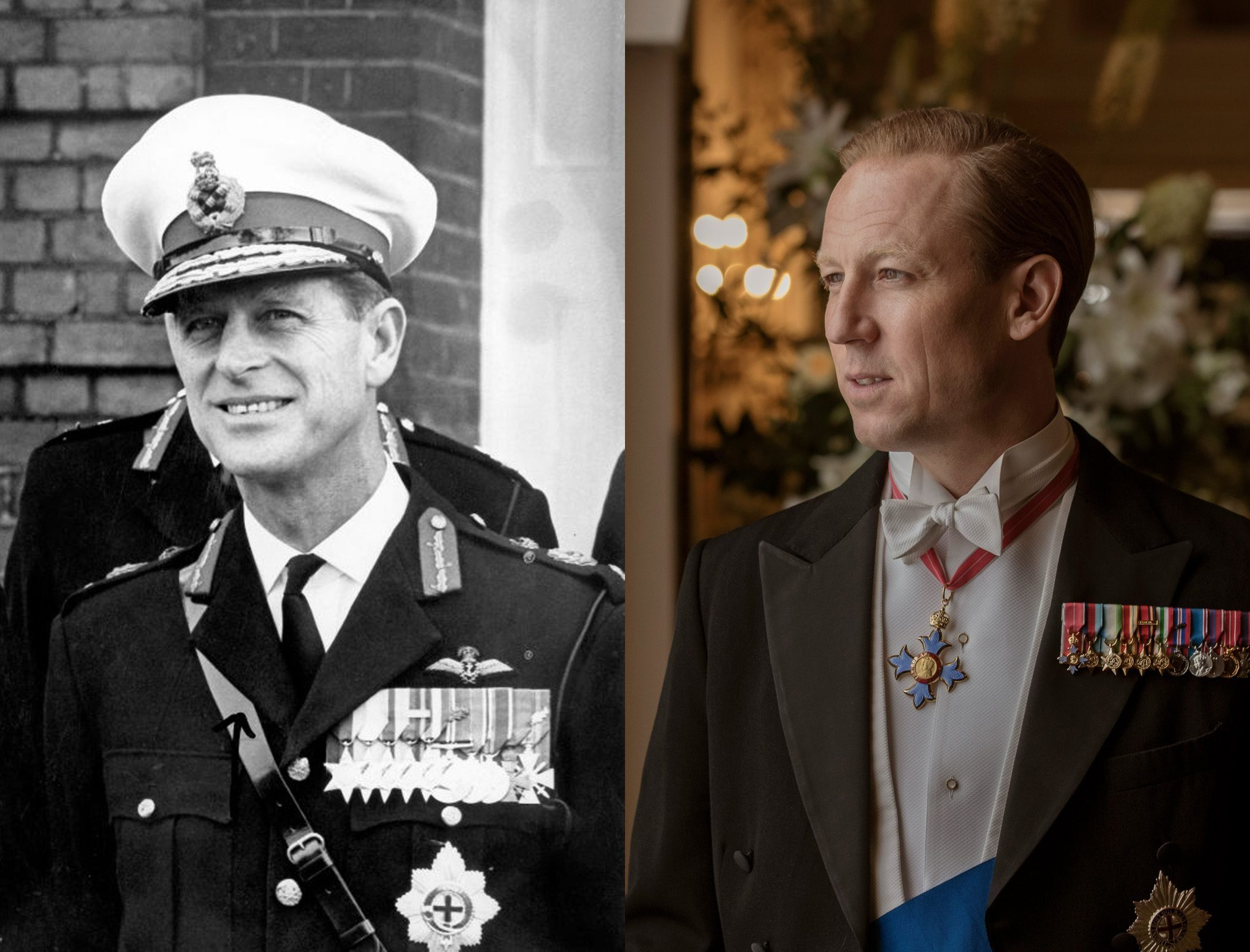 Prince Philip in middle age, as played by Tobias Menzies