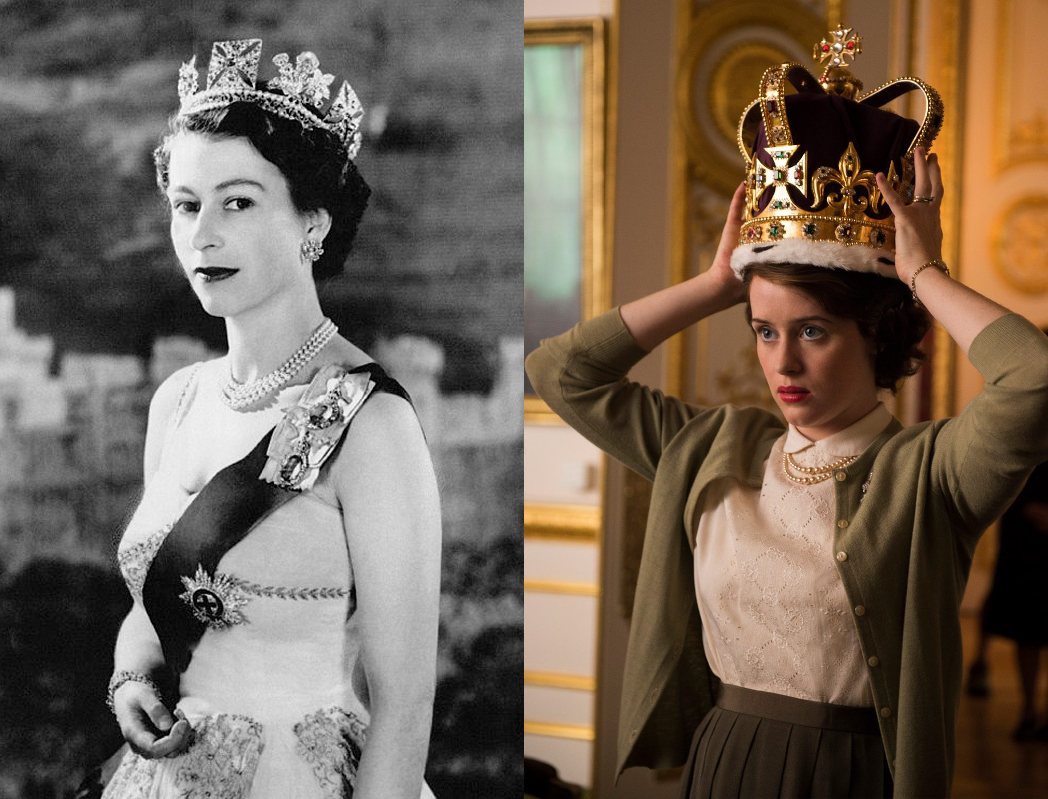 Queen Elizabeth in The Crown on Netflix