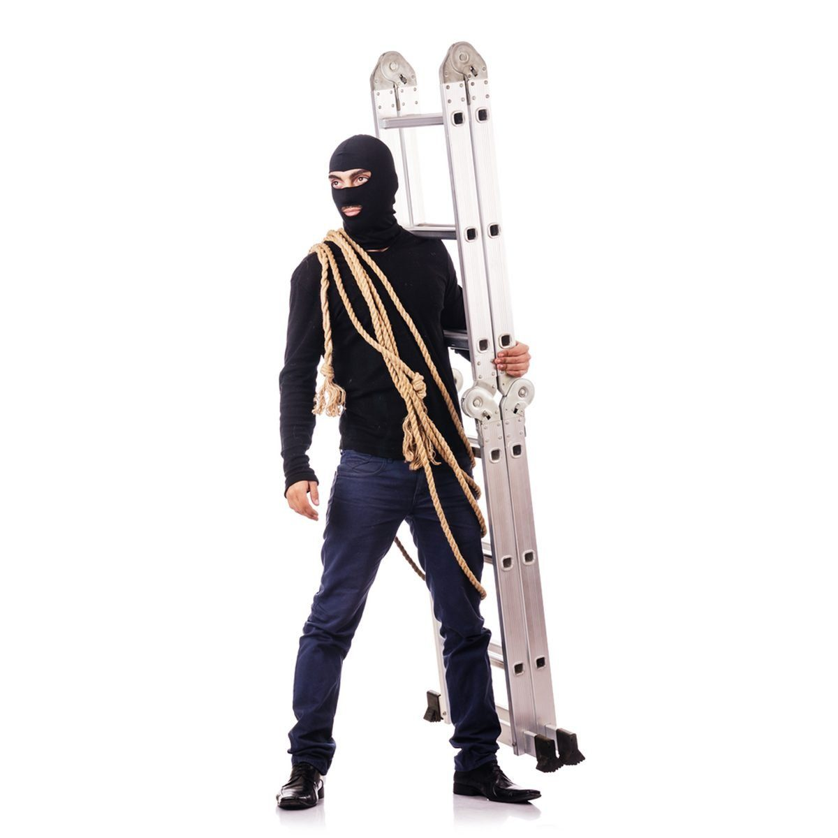 Don't supply robbers with extra help, like a ladder.