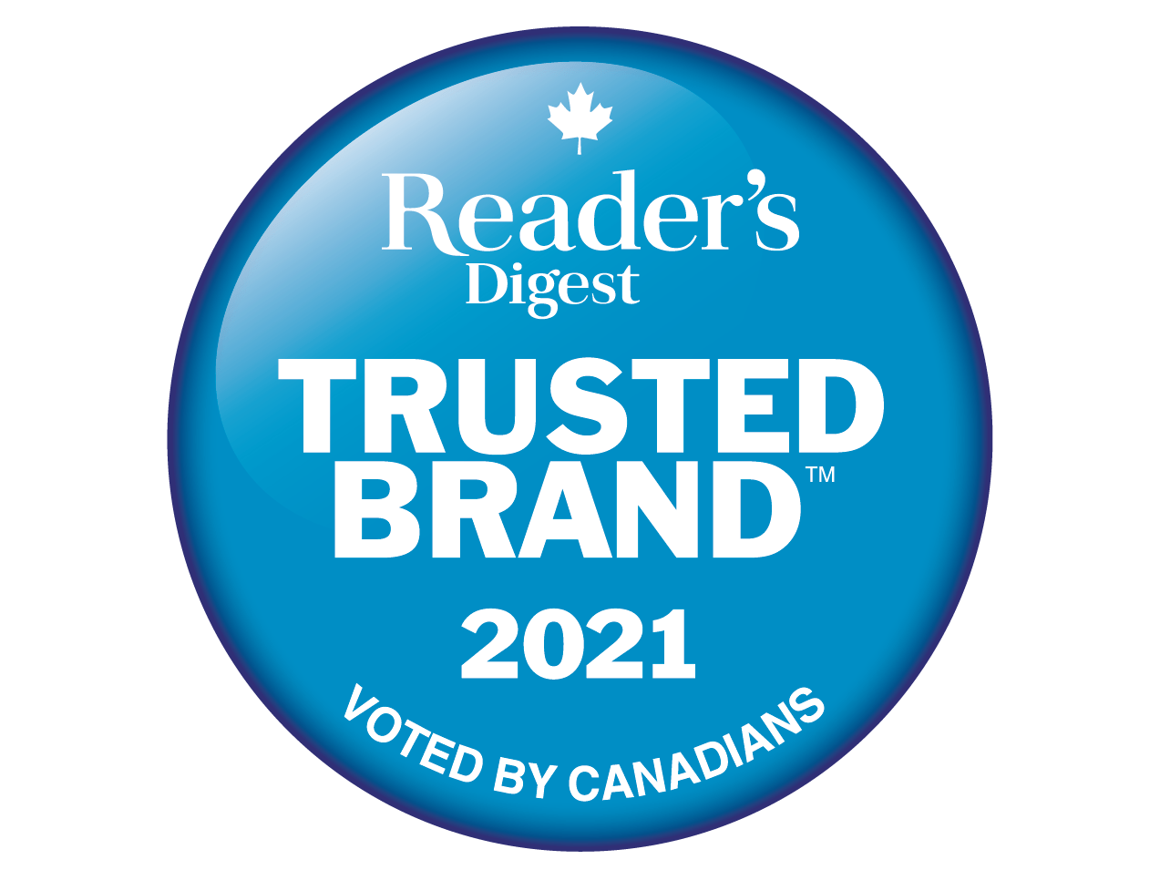 Reader's Digest Trusted Brands seal smaller