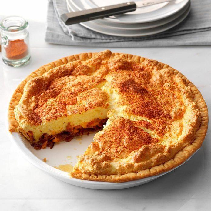 Bacon-Cheese Puff Pie
