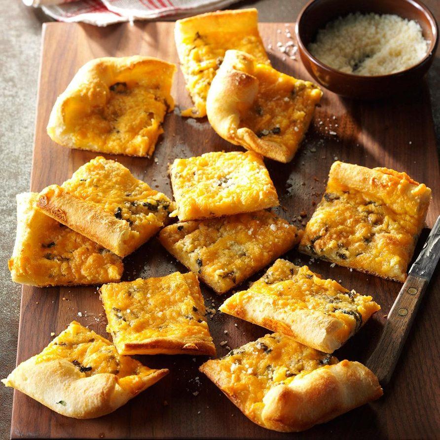 Garlic-Cheese Flatbread recipe