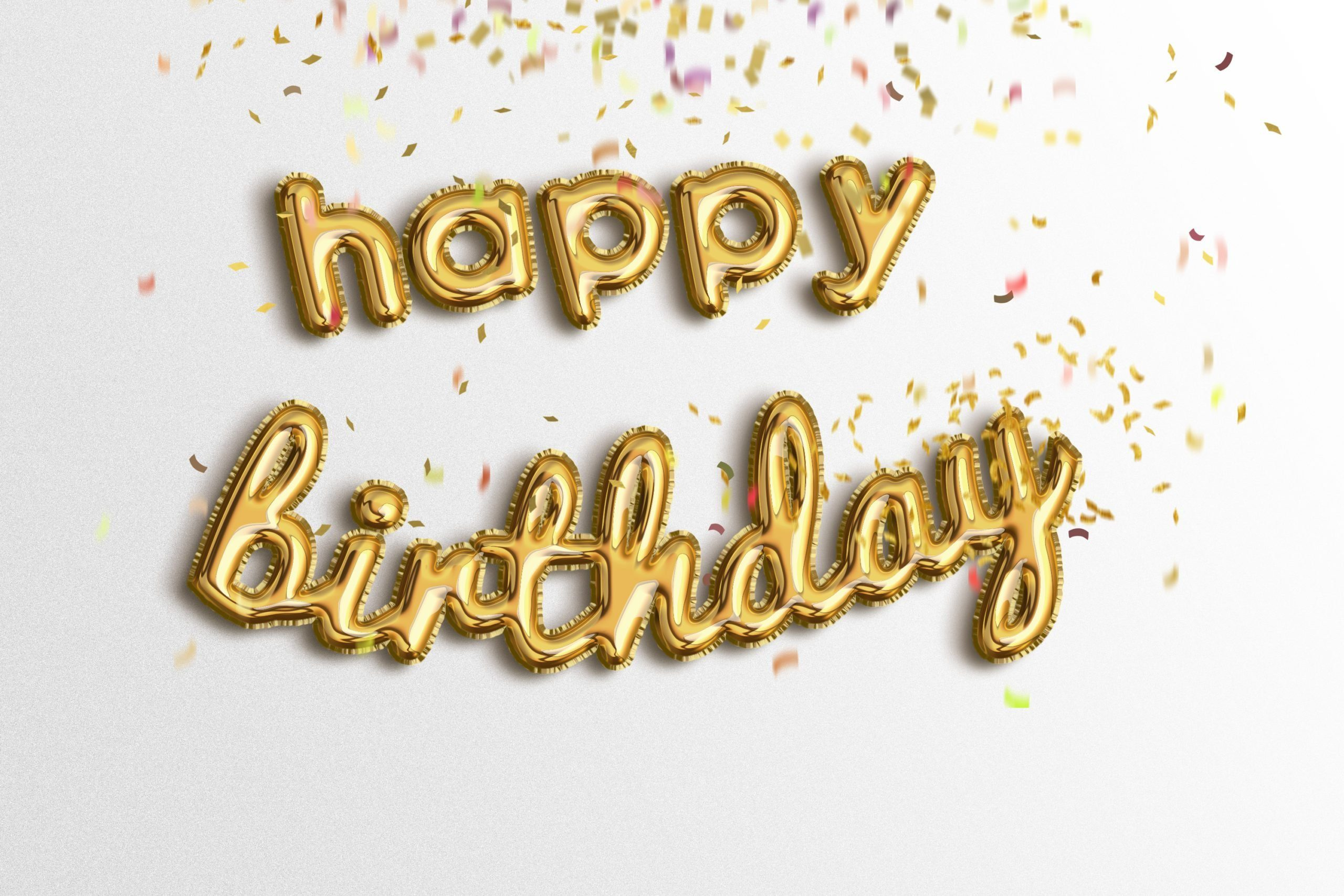 Happy birthda ygolden foil balloons