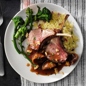 Rack of Lamb with Figs