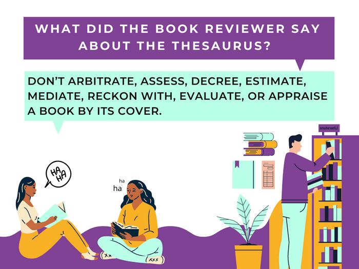 Thesaurus Jokes- Book Him