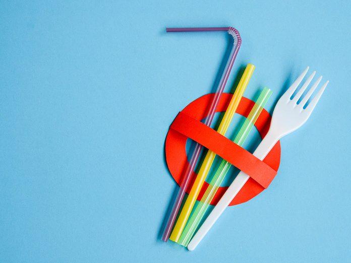Canada plastic ban - no more single use plastic straws or cutlery