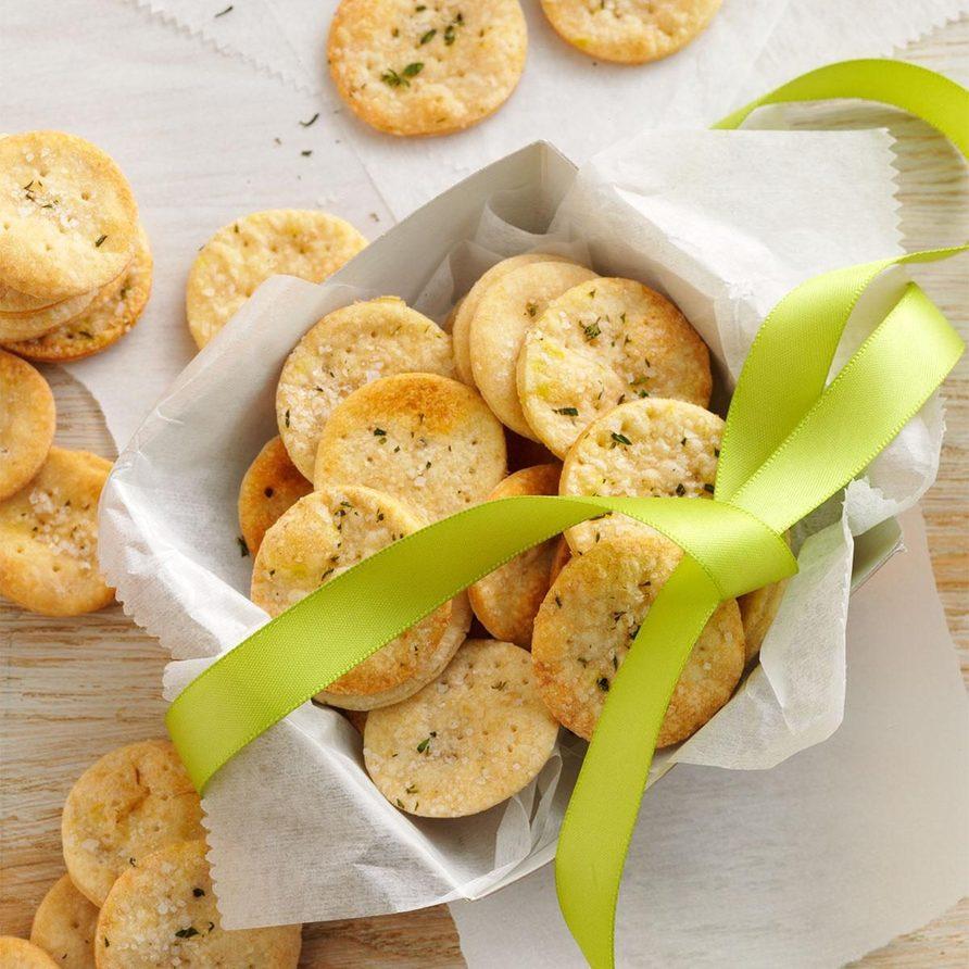 Thyme-Sea Salt Crackers recipe