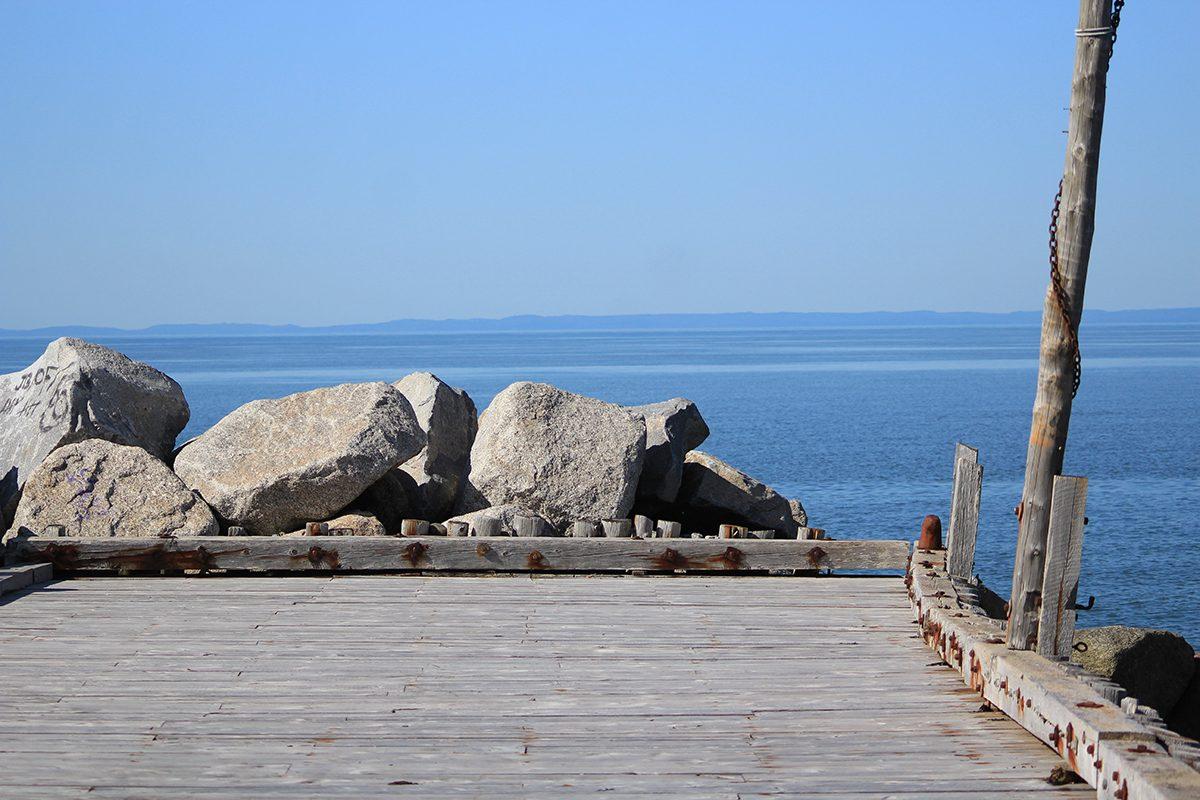My Happy Place - Nova Scotia Pier With Rocks