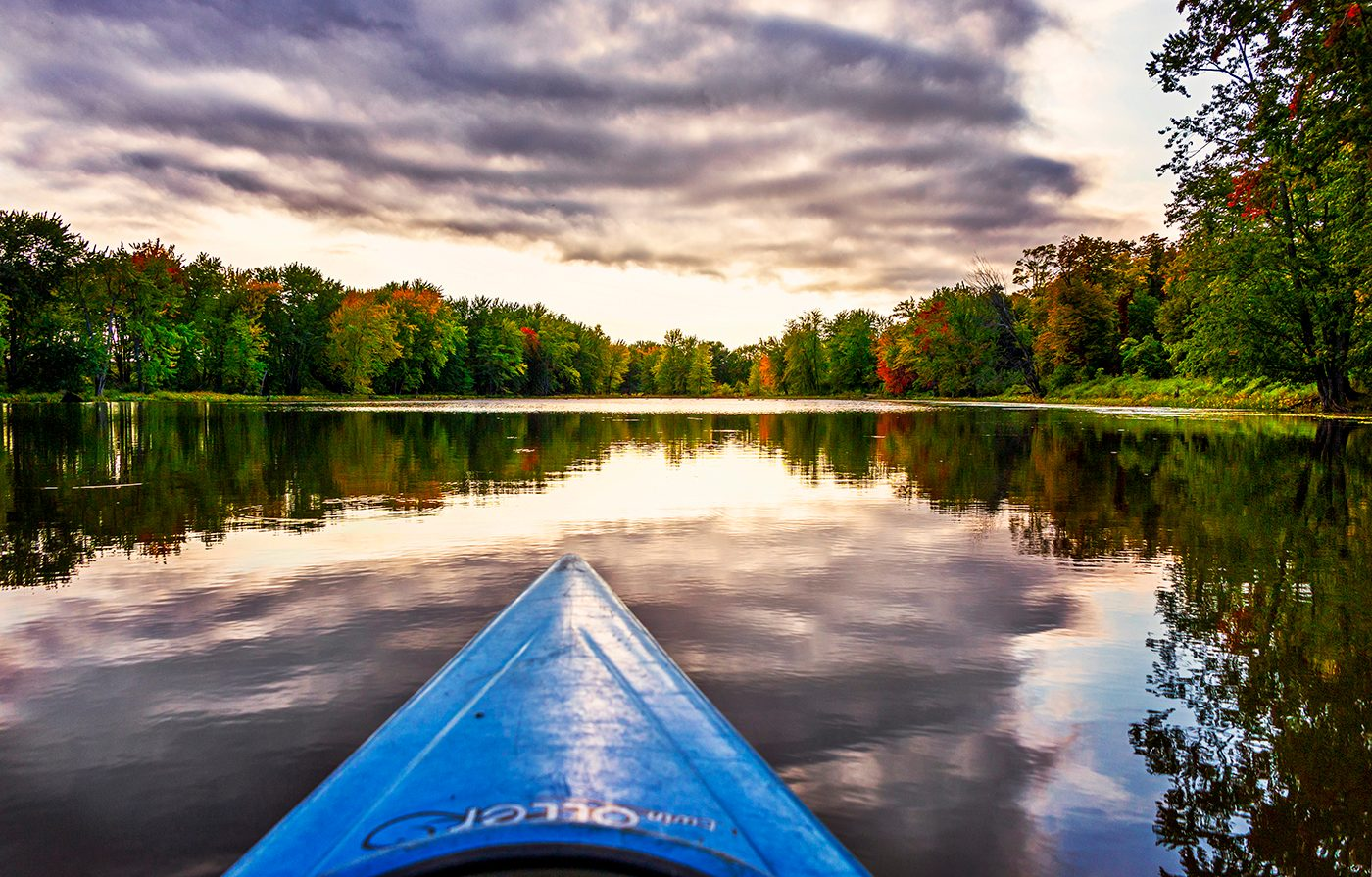 My Happy Place - Petrie Island Canoe On Lake
