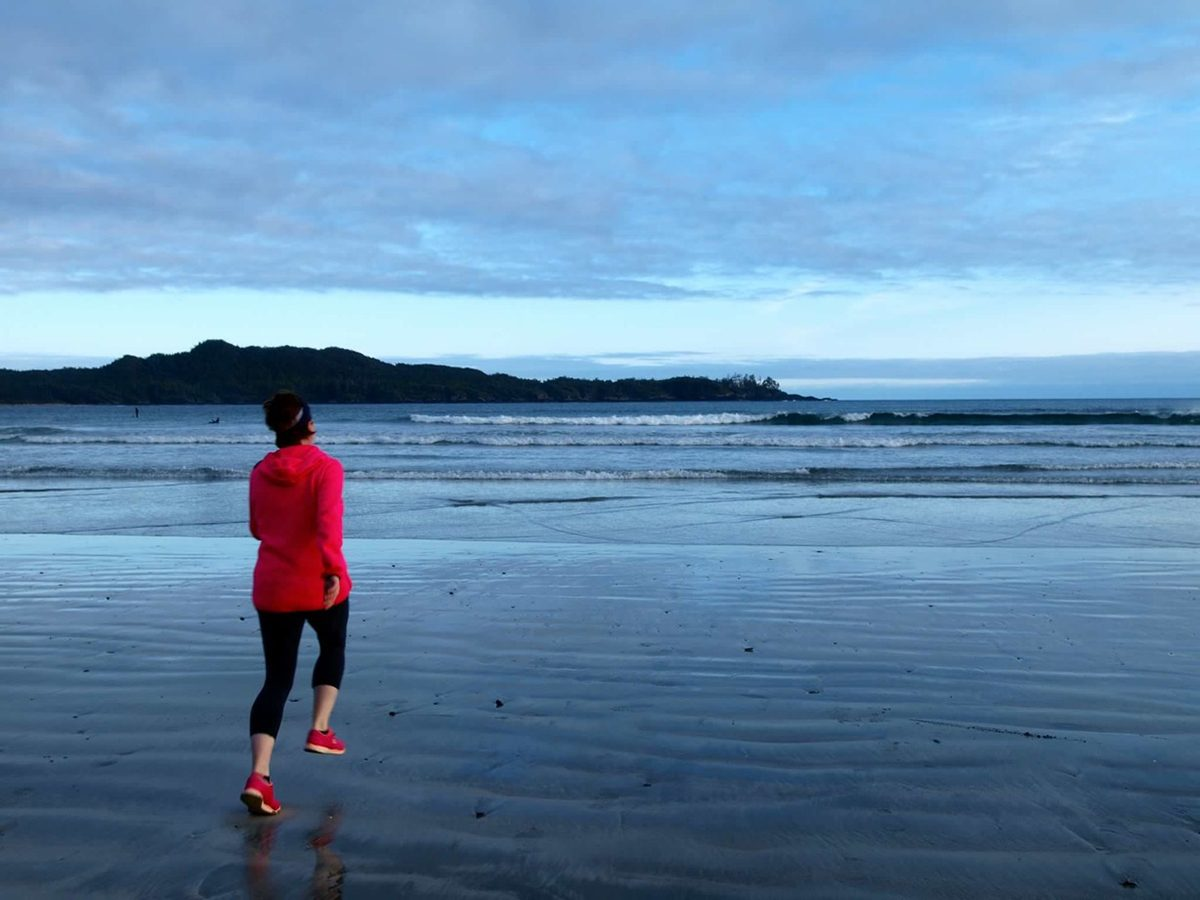 My Happy Place - Woman Running Chesterman Beach
