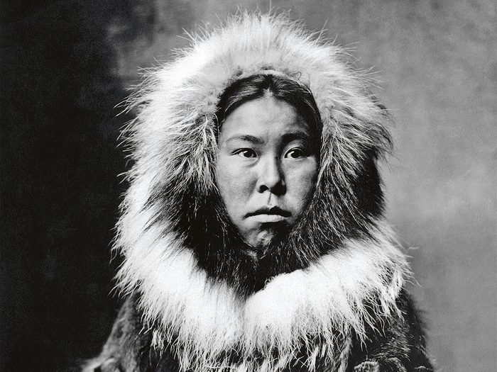 Inuit Woman, Dressed In Traditional Clothing. Photo By B.b. Dobbs, 1903..
