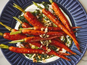 Honey-Roasted Whole Carrots