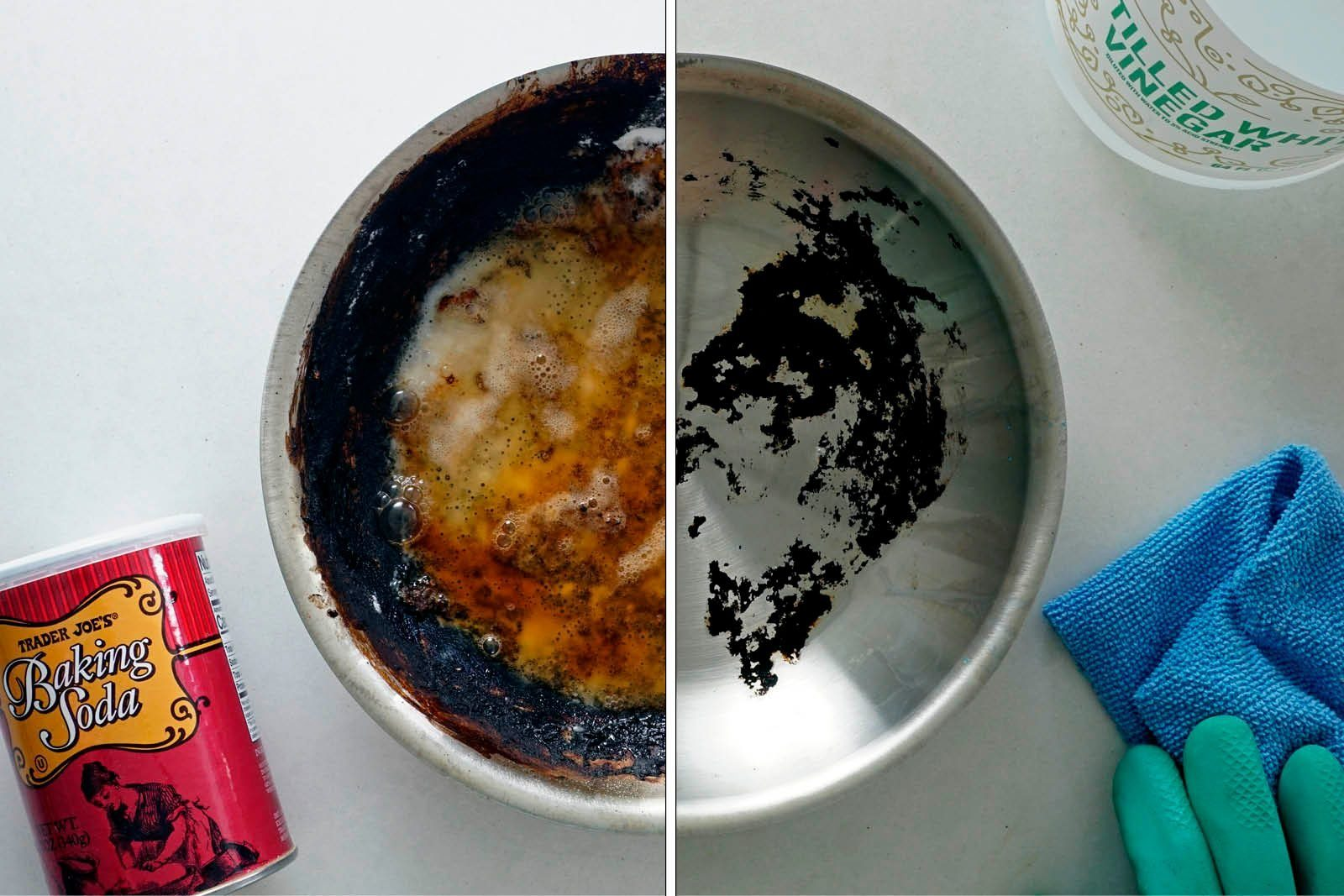 Baking Soda + Vinegar Cleaning Pan
