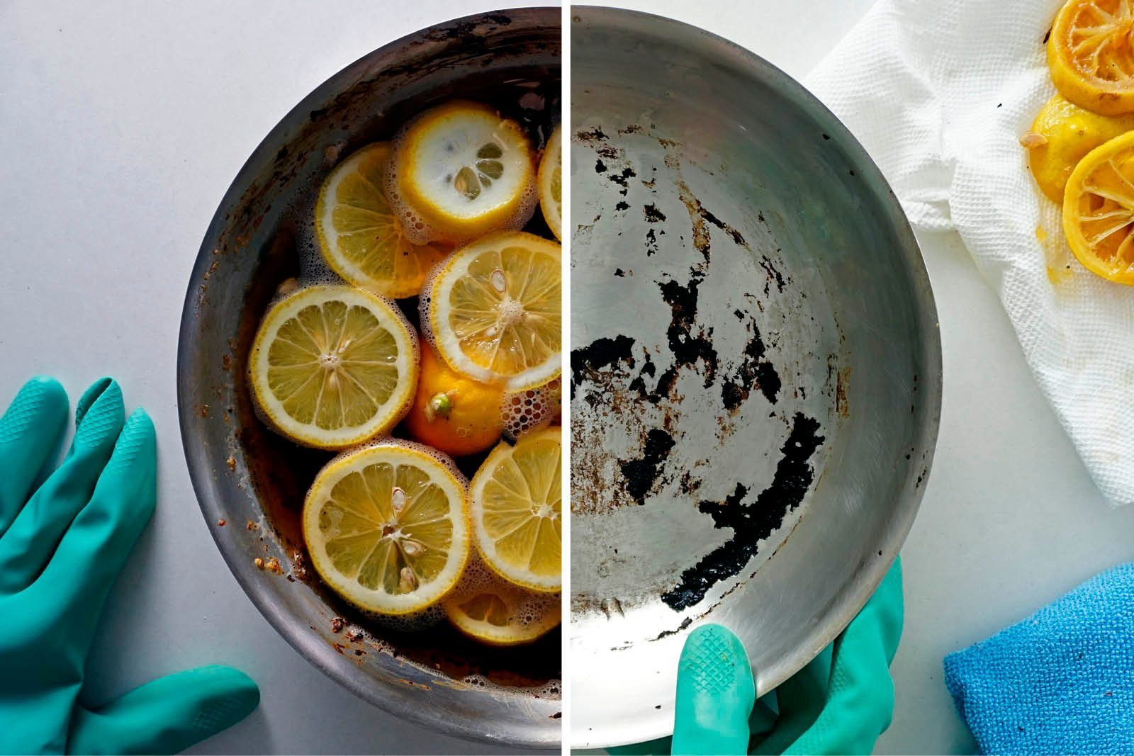 Lemons Cleaning Pan