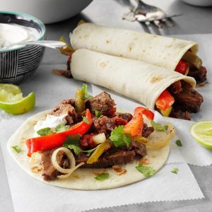 Slow-Cooked Steak Fajitas