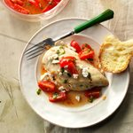 Stuffed Chicken with Marinated Tomatoes