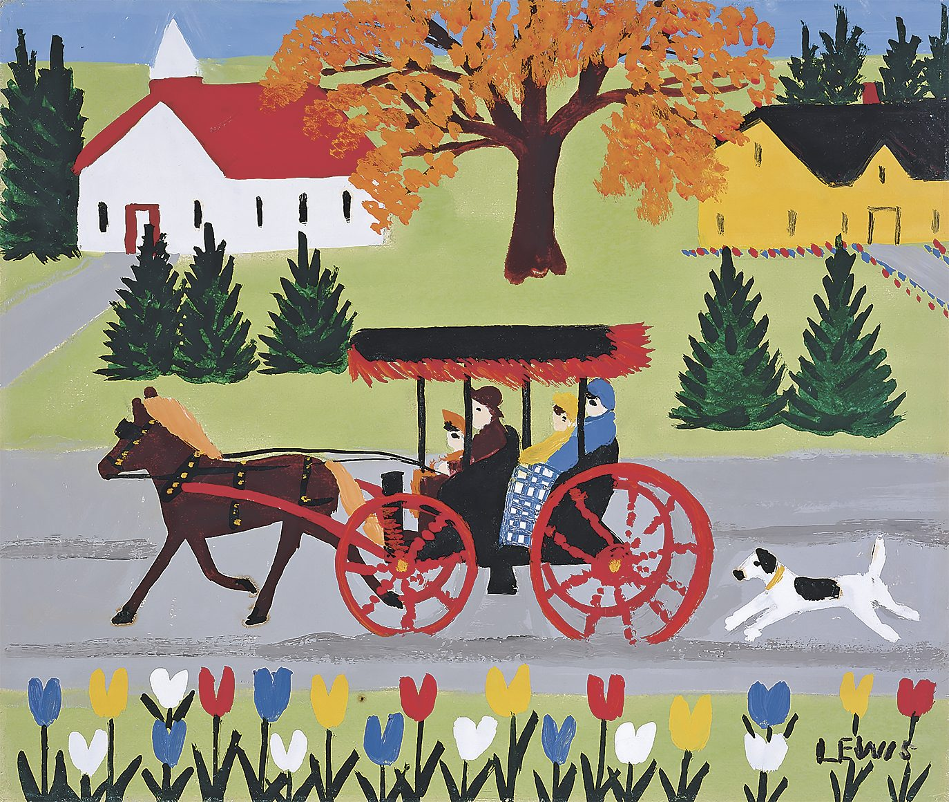 """""""Carriage and Dog"""" by Maud Lewis"""