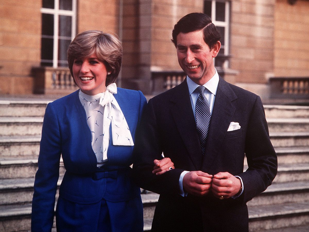 Prince Charles and Princess Diana wedding engagement announcement at Buckingham Palace
