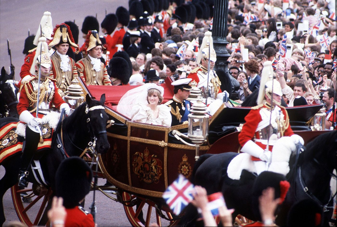 Prince Charles and Princess Diana wedding carriage ride