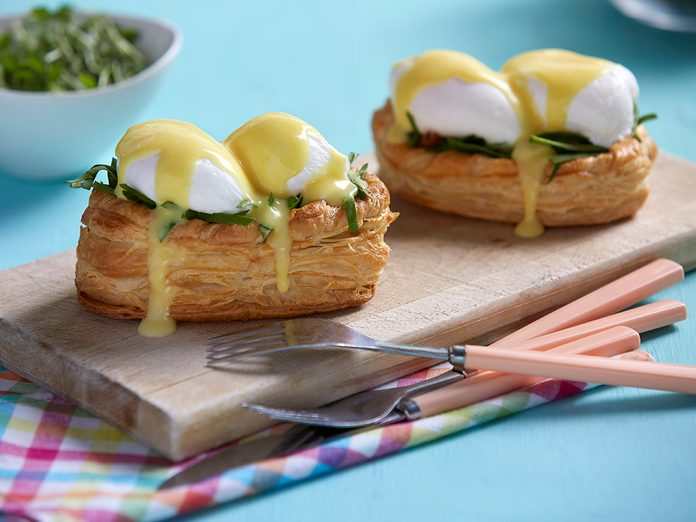Puff Pastry Eggs Benedict recipe
