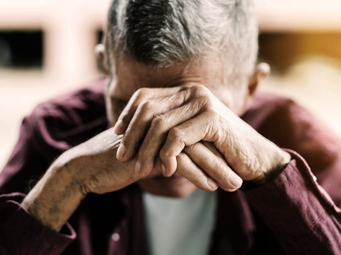 sad senior citizen