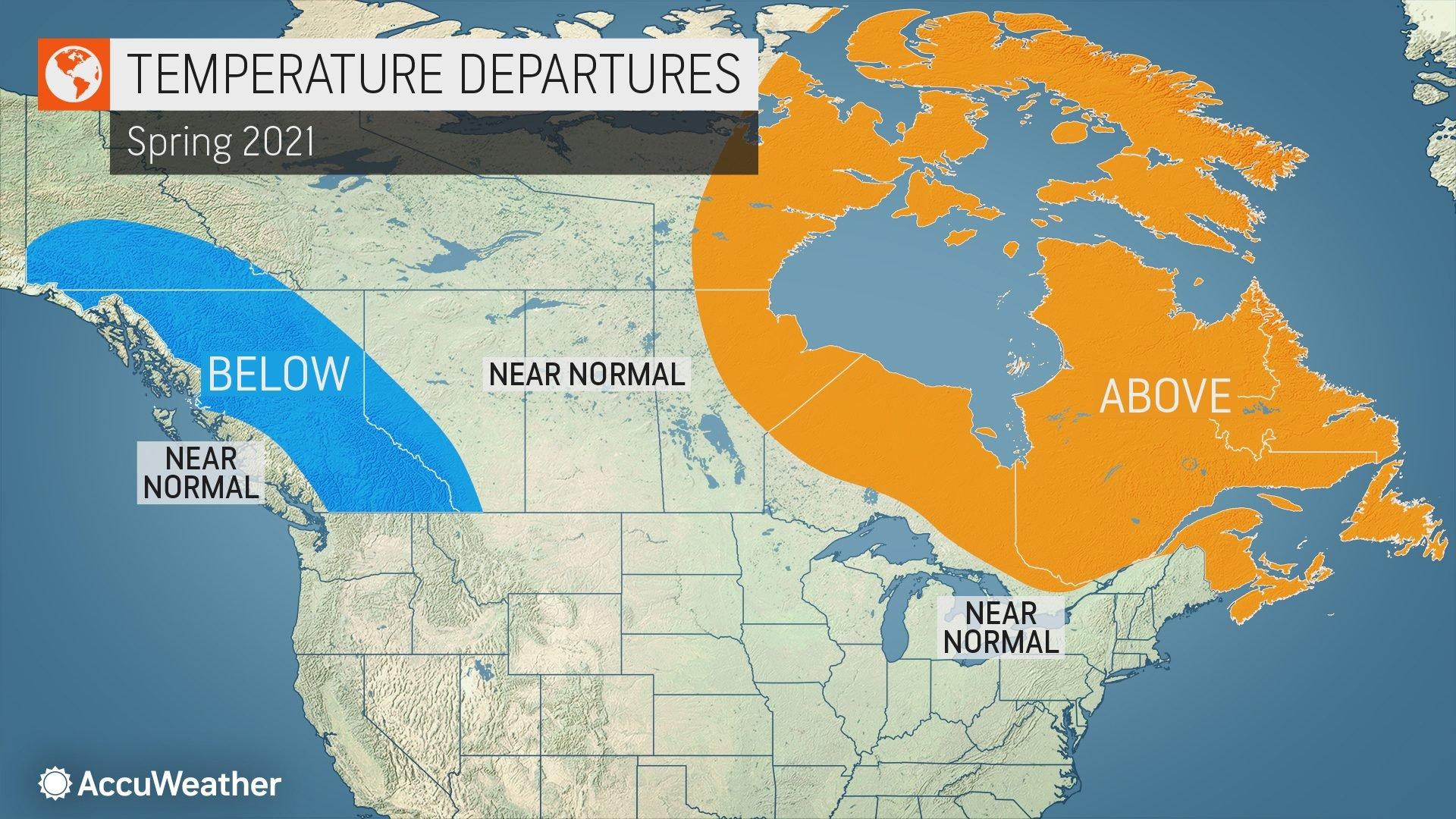 Spring Forecast Across Canada